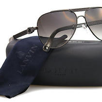New Lanvin Sunglasses Unisex Aviator Sln 025 Black J141x Sln025 59mm Photo