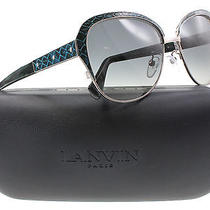 New Lanvin Sunglasses Women Cat Eye Sln 035 Blue  0k20 Sln035 58mm Photo