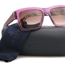 New Lanvin Sunglasses Women Sln 554 Purple 0z34 Sln554 53mm Photo