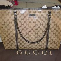 New Large Gucci Crystal Guccissima Gg Monogram Joy Tote/bag Photo