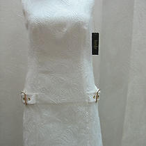New Laundry by Shelli Segal White  Wear to Work Dress 0  Photo