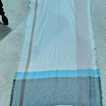 New Lauren Conrad Scarf  One Size 29x78 Blush 662 Cream Aqua Gray - Nwt Photo