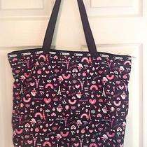 New Le Sport Sac Tote Bag With Matching Pouch  Photo