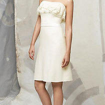 New Lela Rose Strapless Ivory Dress 10 Cocktail White Short Wedding Formal Nwt Photo