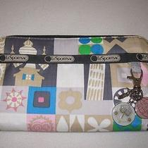 New Lesportsac Global Journey Lily Wallet Charm Disney It's a Small World Clutch Photo