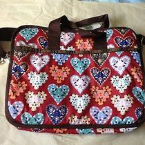 New Lesportsac Laptop Bag Colorful Heart Pattern Technofile Quilty Photo