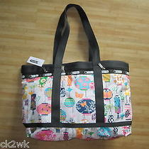 New Lesportsac Large Travel Tote Bag Handbag Purse Lanterns Photo