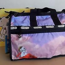 New-Lesportsac X Peanuts-Ace Snoopy Red Baron-7184 Medium Weekender Travel Bag Photo