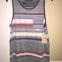 New Levi's Men's Tank Top.  Striped Size Medium. Free Ship Photo