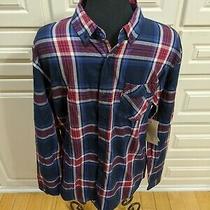 New Levi's Mens Dress Shirt Blue Pocket Button Down Plaid Long Sleeve Sz Medium  Photo