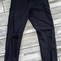 New Levi's Wedgie Fit Selvedge Black Distressed Hem Womens Denim Jeans Sz 26 28 Photo