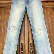 New Light Wash Blue Gap 1969 Distressed Authentic Boyfriend Jeans 2 26 Nwt  Photo