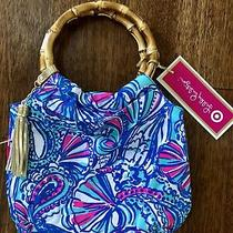 New Lilly Pulitzer for Target Girls Bamboo Wristlet Clutch Purse My Fans  Photo