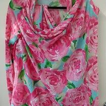 New Lilly Pulitzer S/m 0 2 4 6 8 Babs Sweater Wrap Hotty Pink First Impression  Photo