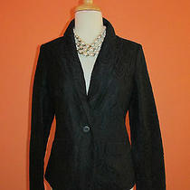 New Lilly Pulitzer Size 4 Black Feather Lace Campbell Jacket Blazer  Photo