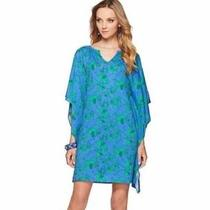 New Lilly Pulitzer Stefani Cover Up T-Shirt Dress Iris Blue Loopy Elephants Xs Photo