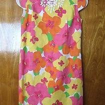 New Lilly Pulitzer Us 10 Beaded Jeweled Floral Cotton Short Sleeve  Dress A0-B2 Photo