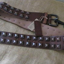 New Linea Pelle Vintage Collection  Women's Brown Leather Belt Sz L Photo