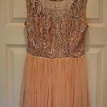 New Lipsy Womens Blush Metallic Sleeveless Party Cocktail  Dress Size Uk 8  Photo