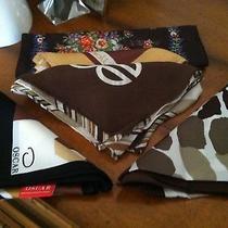 New Listing - Vtg Lot 24  Brown Tone - 5 Scarves Oscar De La Renta Bill Blass Photo