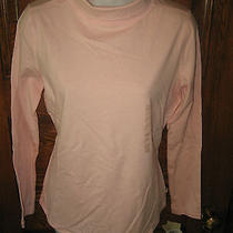 New Liz Claiborne Peachy Quartz Pink Cotton Stretch Turtleneck Top Nwt S Photo