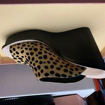 New Loeffler Randall Sawyer Leopard Print Calf Hair Sandals Sz 8 Photo