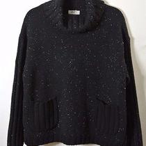 New Loma London- Black Speckled Malin Merino & Cashmere Sweater Size S Photo