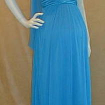 New Long Aqua Blue Maternity Wedding Dress Satin Large Special Bridesmaids Sale Photo