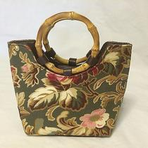New Longaberger Sisters Majolica Small Handbag With Ring Handles Nwt Photo