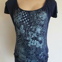 New Look Bloom Maternity Blue Butterfly T-Shirt Top Size 10 Photo