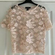 New Look Blush Pink Flower Top Size 8 Photo