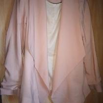 New Look Blush Pink Waterfall Style Blazer Size 8 Photo
