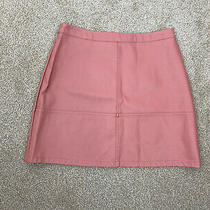New Look Rose Blush Pink Faux Leather Pu a Line Mini Skirt Uk 12 Photo