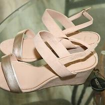 New Look Rose Gold Wedges Sandals Size 10w Photo