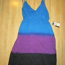 New Lost Black Blue Dress Bikini Coverup Roxy 5 7 M Photo