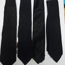 New Lot of 4 Pieces -  Tie Black Tie -  1x Giorgio Armani 3x Other Brand Photo