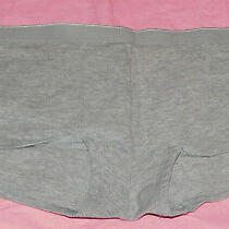 New Love by Gap Body Stretch Cotton Boyshort Panty Shorty Heather Gray Large L Photo