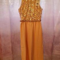 New Love Jayne Girls Soutache Blush Dressy Sequin Embellished Jumpsuit Sz 10 Photo