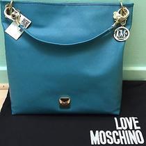 New  Love Moschino Tote Handbag Turquoise Blue Photo
