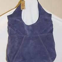 New Lucky Brand Blue Suede Pleated Hobo Satchel Photo
