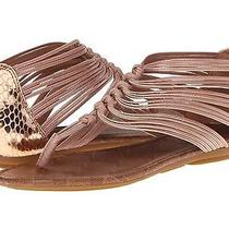 New Lucky Brand Cyrus Sandals Size 5.5 Rose Gold Photo