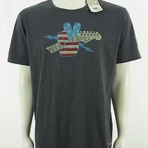 New Lucky Brand Fender Guitar Casual Retro Gray Shirt Mens Xl Photo