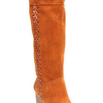 New Lucky Brand Jeans Womens Boots Sanna Tall Suede Wedge Heels Bombay 8.5 219 Photo