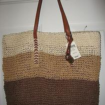 New Lucky Brand Straw Tote - Cognac Photo