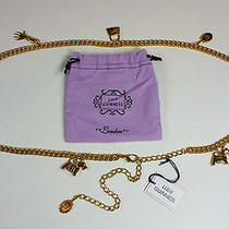 New Lulu Guinness Gold Effect Logo Chain Belt Up to 43