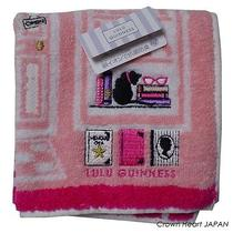 New Lulu Guinness Mini Towel Hanky Towel Cute Cat Book Store Japan Rare Photo