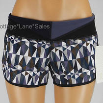 New Lululemon Run Speed Short Stained Glass Love Neutral Blush Quilt Shorts Sz 8 Photo