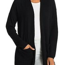 New M Magaschoni Open Front Cashmere Cardigan in Black Size S   Photo
