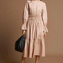 New m&s Size 14 Blush Pink Midi Dress Bnwt   Marks and Spencer Autograph  Photo