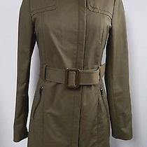 New Mackage Olive Zip Front Belted Trench Coat Size S Photo